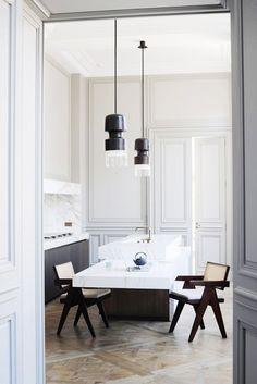 How to Get the Balenciaga Look at Home via @domainehome // marble kitchen island