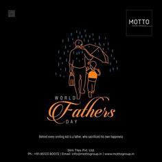Behind every successful person, there are hidden efforts of a hardworking father #Motto #tile #fathersday #fathersday2021 #blessings #fatherlove #family Fathers Love, Happy Fathers Day, Graphic Design Flyer, Logo Design, Navratri Wishes, My Dad My Hero, Festival Flyer, India Map, Child Smile