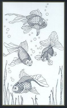 Gallery.ru / Фото #5 - Blackwork_fishes - Nice-Nata-san