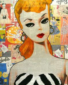 "Saatchi Online Artist Annie Terrazzo; Mixed Media, ""1959 Barbie"" #art"