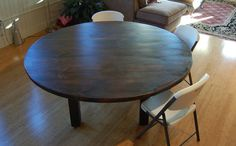 The Lorimer Workshop: Custom Farm Tables - Round large farm table