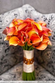 Bouquet calla laranja
