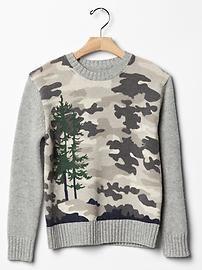 JACK SPADE ♥ GapKids camo tree sweater