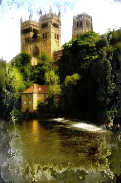 Durham Cathedral and the Fulling Mill on the River Wear.