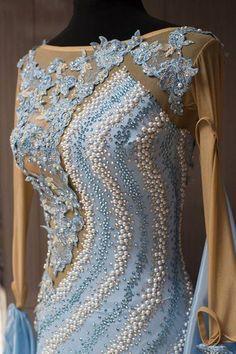 blue white lavender bodice design modern dress