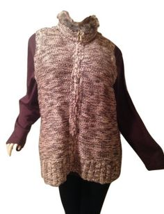 Charter-Club-Plus-Size-3X-Brown-Sweater-Vest-Faux-Collar-NWT