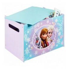 Speelgoedkist hout Frozen: 60x40x40 cm