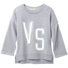 Victoria's Secret Boxy Crewneck Pullover ($60) ❤ liked on Polyvore featuring tops, red, pullover tops, 3/4 length sleeve tops, sweater pullover, crew neck tops and crewneck pullover