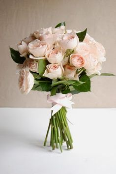 pink garden rose bouquet intermixed with the cream garden roses to create a more full lush effect wedding pinterest garden rose bouquet