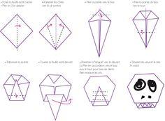 Pliage tête de mort - tuto - DIY - Origami