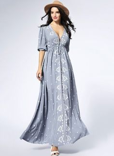 Vintage Dresses Latest fashion trends in women's Dresses. Shop online for fashionable ladies' Dresses at Floryday - your favourite high street store. Women's Fashion Dresses, Boho Fashion, Casual Dresses, Maxi Dresses, Ladies Dresses, Fashion Trends, Robes Vintage, Vintage Dresses, Bohemian Mode