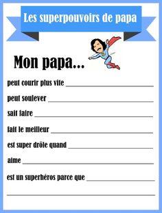Écrire un poème pour la fête des pères Cadeau Parents, Daycare Themes, Father's Day Activities, Crafty Hobbies, Core French, Mother And Father, Father Sday, Fathers Day Crafts, Create And Craft