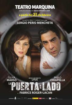 """Campaña de publicidad en quioscos de la comedia """"LaPuerta de al Lado"""" en Teatro Marquina a partir del 25 de febrero de 2016."""