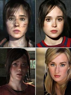 Incredible, Jodie/Ellen Page - Beyond: Two Souls and Ellie/Ashley Johnson - The Last of Us