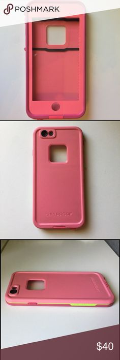 iPhone 6 Lifeproof Case Super cute sunset pink lifeproof case for an iPhone 6! The case is in excellent condition! I only used the case for a few weeks! Make me an offer!!!✨ LifeProof Other