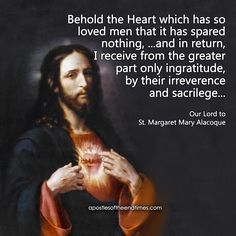 Behold the Sacred Heart of Jesus