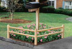 Wood EZ Trim Garden Fence Corner - The Home Depot Garden Fence, Garden, Mailbox Garden, Driveway Landscaping, Corner Garden, Outdoor Projects, Front Yard, Garden Beds, Yard Decor