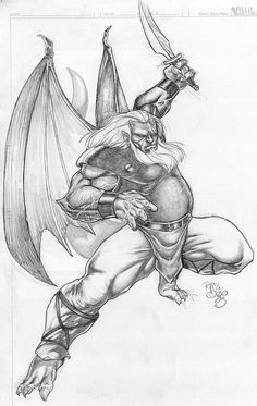 Hudson of the Gargoyles ~ Coloring pages