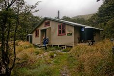 Blue Lake Hut, Nelson Lakes, New Zealand. Nelson Lakes National Park has a really good trail and hut network. Great for camping out too. Kiwiana, Lakes, Wilderness, New Zealand, Places To Go, Trail, National Parks, Shed, Exterior
