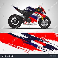 Find Racing Motorcycle Wrap Decal Vinyl Sticker stock images in HD and millions of other royalty-free stock photos, illustrations and vectors in the Shutterstock collection. Motorcycle Decals, Racing Motorcycles, Sport Bikes, Abstract Backgrounds, Motocross, Sticker Design, Royalty, Stickers, Board