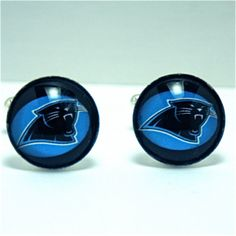Cuff Links Carolina Panthers Football Team by CynthiaCoolBeans, $24.95  Any Team can be made up for you. Ask.