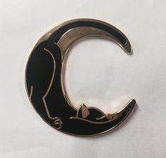 Image of Catmoon 1.5 inch hard enamel pin