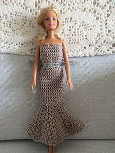 FREE download - CROCHET -Fashion doll Lacy Mermaid Dress