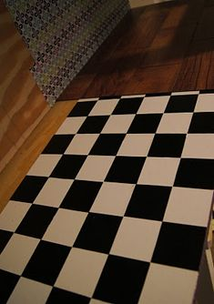 Dollhouse flooring - blog also has wallpapering ideas