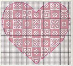 Me gusta: corazones a punto de cruz