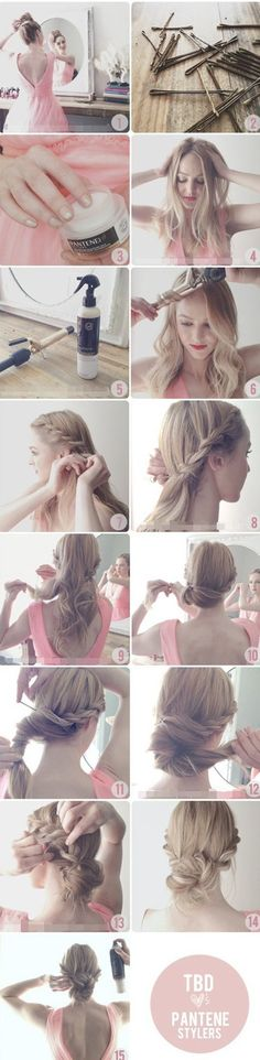updo hairstyles for medium hair braided updo