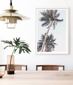 Vintage Palm Tree Print by Little Ink Empire. Tropical Decor, Coastal Decor, Boho Decor, Metal Wall Decor, Metal Wall Art, Artwork Prints, Wall Art Prints, Poster Photography, Palm Tree Print