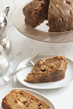 Apple and Walnut Cake. Recipe adapted from Rachel Allen