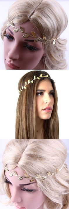 Baroque Jewelry 2017 Vintage Gold Leaf Pearl Headband Hair Accessories Bridal Headwear Party Wedding Hair Jewelry Bride Jan10