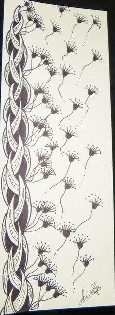 Lori Bradford's Art: Healing Patterns.  Lori is a Certified  Zentangle  Teacher