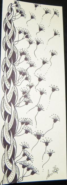 Lori Bradford's Art: Healing Patterns. Lori is a Certified Zentangle Teacher
