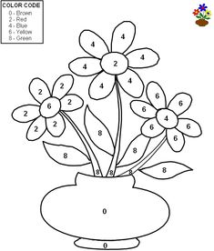 Quality Pre-made Math Worksheets - Color by number - Grade 1