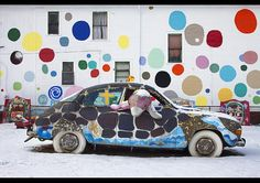 Stephen Wilkes  Bernstein & Andriulli  Car with Dolphin, The Heidelberg Project, an outdoor art environment in Detroit, Michigan, February 2010.