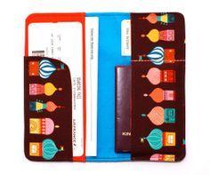 Hülle für Reisepass und Flugtickets
