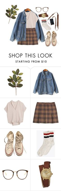 """38"" by chickensoup456 ❤ liked on Polyvore featuring MASSCOB, Jigsaw, Converse, Linda Farrow and Stührling"