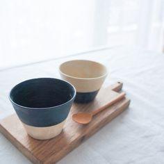 札幌で作陶されている杉田真紀さんのちょこカップ(ツートン)です