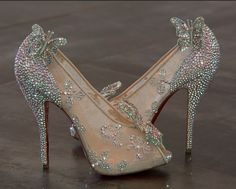 the Cinderella shoes that Christian Louboutin designed for Disney in 2012