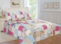 Amazon.com: All for You 3-piece Reversible Bedspread/ Coverlet / Quilt Set- OverSize-Real patchwork (king): Bedding & Bath