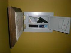 Secret Wall Safe with Pistol Storage