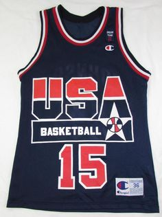 Rare 2012 Magic Johnson #15 USA Dream Olympic Team Champion Jersey sz 36 #Champion #USADreamTeamII Usa Dream Team, Magic Johnson, Olympic Team, Men's Clothing, Reebok, Olympics, Nba, Champion, Clothes