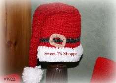 Santa Hat 22 inch deep red  baby Santa hat Santa's belt in by SweetTsShoppe, $18.95