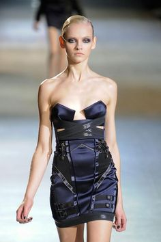 Anthony Vaccarello A/W '12 Not usually a fan of small cups like that but they're pretty well done here.
