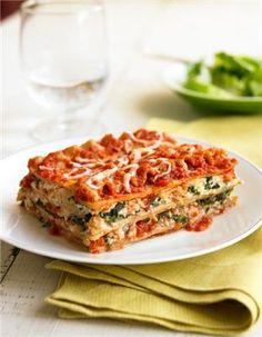 Biggest Loser Spinach Lasagna