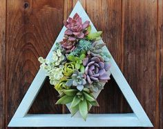 Triangle Cut Out Vertical Garden Planter Made to order