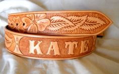 Hand Made Custom Hand Tooled Leather Belt by Lone Tree Leather ...