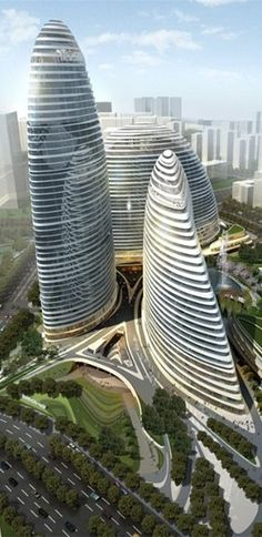 Wangjing SOHO, Beijing, China by Zaha Hadid Architects :: 44 floors, height 200m